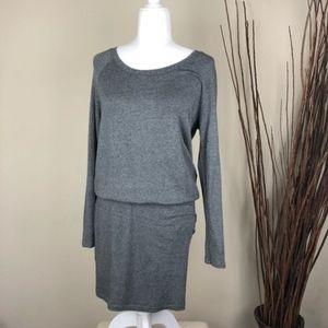 LOU & GREY   Long Sleeve Sweater Dress Soft   S